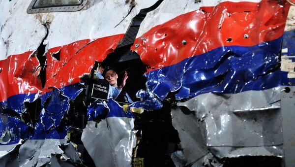 Un fragment du Boeing 777 de Malaysia Airlines tombé dans l'est de l'Ukraine - Sputnik France