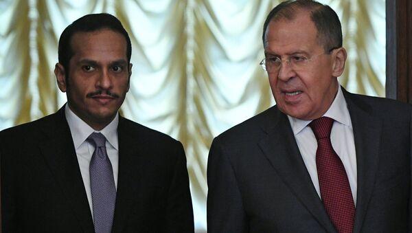 Sergueî Lavrov et Mohammed bin Abdul Rahman al Thani. - Sputnik France