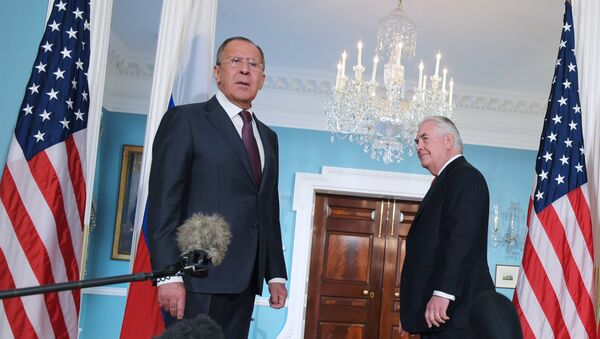 Le ministre russe des Affaires étrangères Sergueï Lavrov et son homologue américain Rex Tillerson - Sputnik France