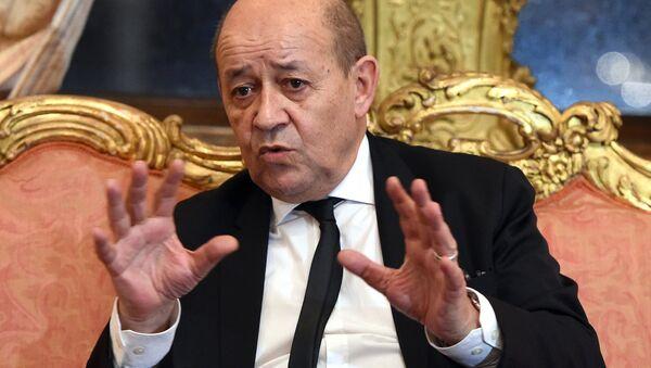 Le ministre français des Affaires étrangères Jean-Yves Le Drian - Sputnik France