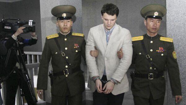 L'étudiant américain Otto Warmbier à la Cour suprême de Pyongyang - Sputnik France