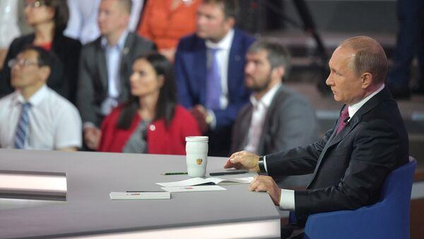 Прямая линия с президентом РФ В. Путиным - Sputnik France