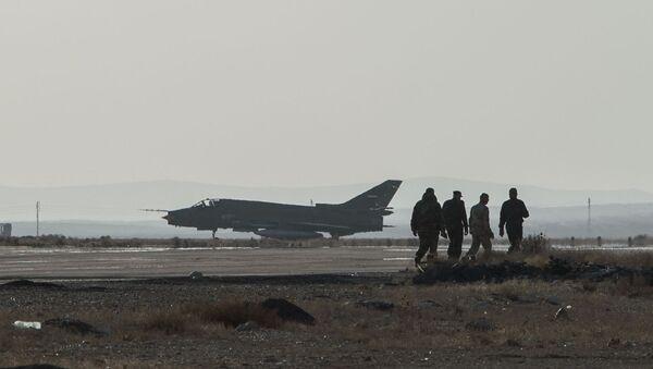 База ВВС сирийской армии в провинции Хомс - Sputnik France