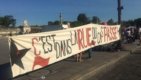 Manifestations contre la politique de travail d'Emmanuel Macron à Paris - Sputnik France