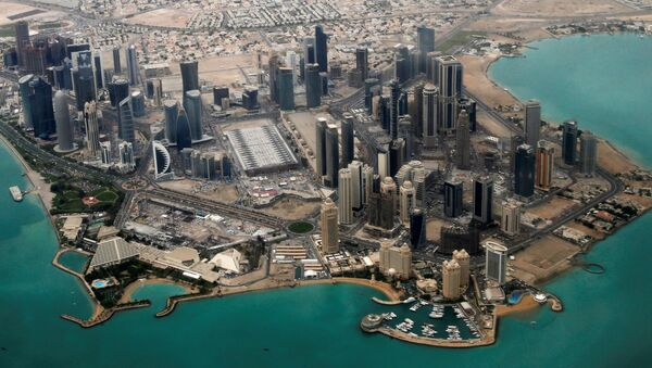 FILE PHOTO - An aerial view of Doha's diplomatic area March 21, 2013. - Sputnik France