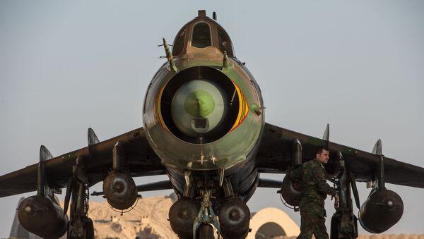 Un Su-22 de la Fuerza Aérea Siria - Sputnik France
