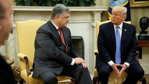 Petro Porochenko et Donald Trump - Sputnik France