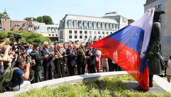 Un monument en l'honneur de Pierre le Grand inauguré à Liège - Sputnik France