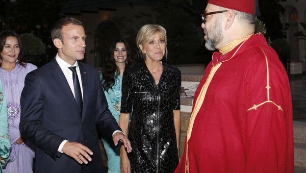 Emmanuel Macron et Mohammed VI - Sputnik France