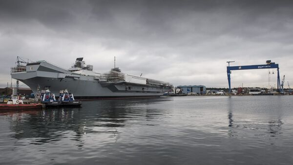 HMS Queen Elizabeth Under Construction with HMS Prince of Wales - Sputnik France