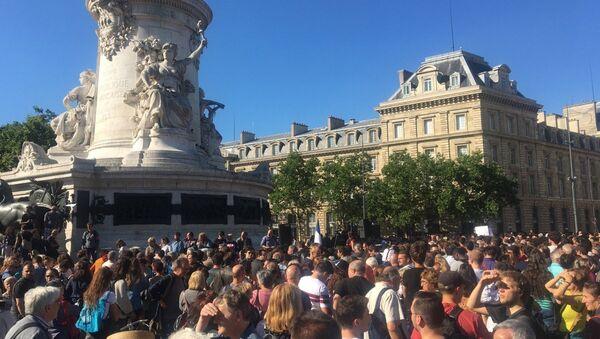 Des manifestants à République, 03.07.2017 - Sputnik France