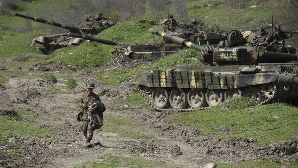 Un soldat de la république autoproclamée du Haut-Karabakh (archive photo) - Sputnik France