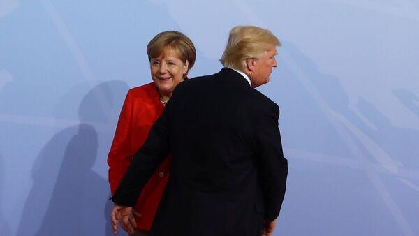 Trump et Merkel - Sputnik France