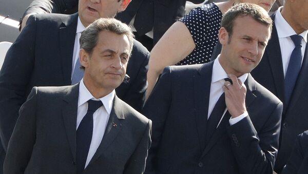 Nicolas Sarkozy et Emmanuel Macron - Sputnik France