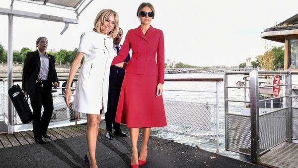 Brigitte Macron et Melania Trump à Paris - Sputnik France