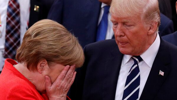 Angela Merkel et Donald Trump - Sputnik France