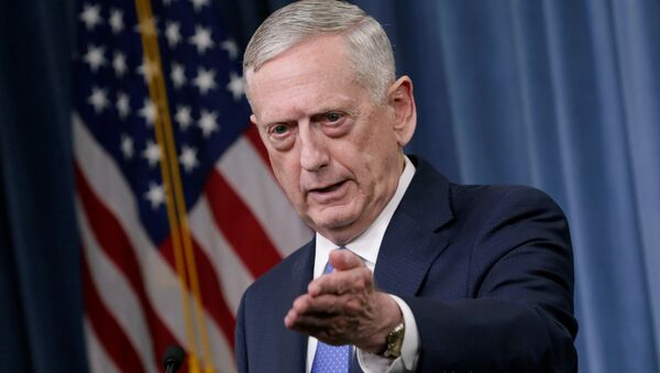 U.S. Defense Secretary James Mattis gestures during a press briefing on the campaign to defeat ISIS at the Pentagon in Washington, U.S., May 19, 2017 - Sputnik France