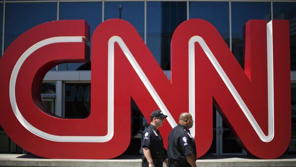 Politzisten vor der CNN-Zentrale in Atlanta, USA - Sputnik France