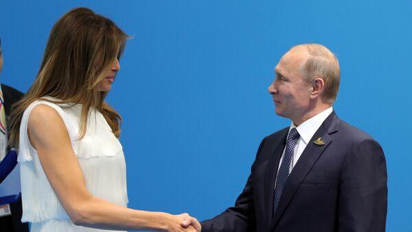Melania Trump et Poutine - Sputnik France