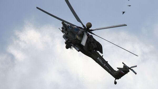 Вертолет Ми-28Н Ночной охотник во время демонстрационных полетов на МАКС-2017 - Sputnik France