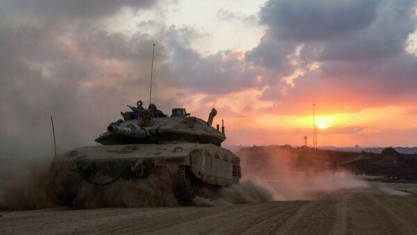 Un char de l'armée israélienne - Sputnik France