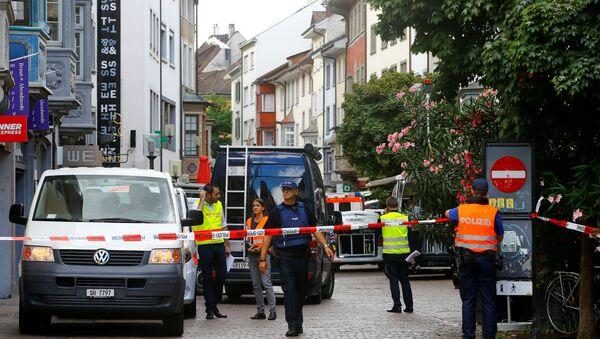 Le lieu de l'attaque à la tronçonneuse à Schaffhausen en Suisse - Sputnik France