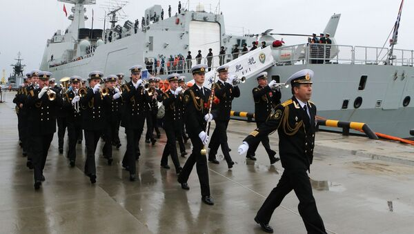 Ceremonial greeting of the Chinese Navy warships that arrived in Baltiysk for the 2017 Naval Cooperation Russia-China drills - Sputnik France