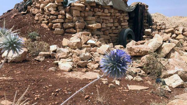 Место базирования террористов в горном районе Эрсаль на ливано-сирийской границе - Sputnik France