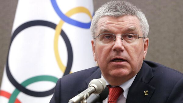 International Olympic Committee (IOC) President Thomas Bach speaks during a press conference in Seoul, South Korea, Wednesday, Aug. 19, 2015 - Sputnik France