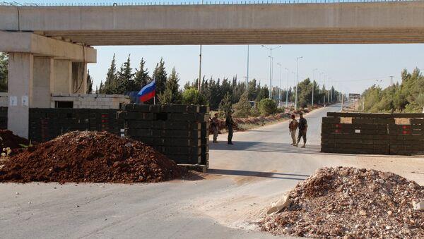 Un poste de contrôle de la police militaire russe en Syrie (archive photo) - Sputnik France