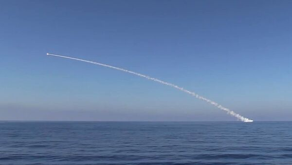 Un missile de croisière russe Kalibr - Sputnik France