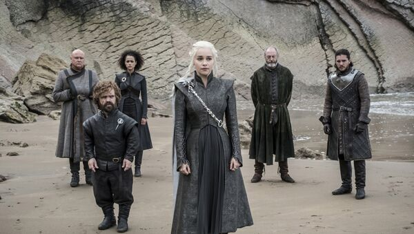 This image released by HBO shows a scene from an episode of Game of Thrones, which aired Sunday, Aug. 6, 2017 - Sputnik France