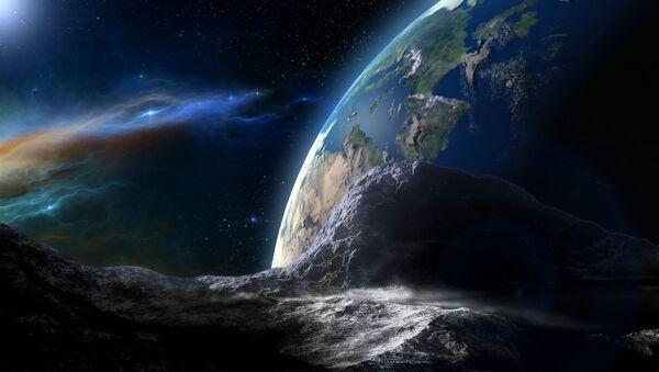 Un astéroïde s'approchant de la Terre (image d'illustration) - Sputnik France
