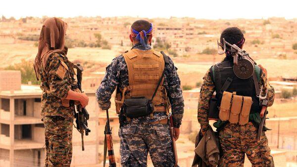 Los combatientes de las Fuerzas Democráticas de Siria (FDS) en la ciudad siria de Tabqa - Sputnik France