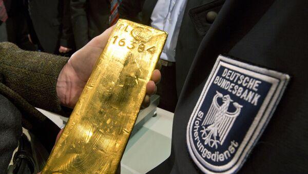 Goldbarren der deutschen Bundesbank - Sputnik France