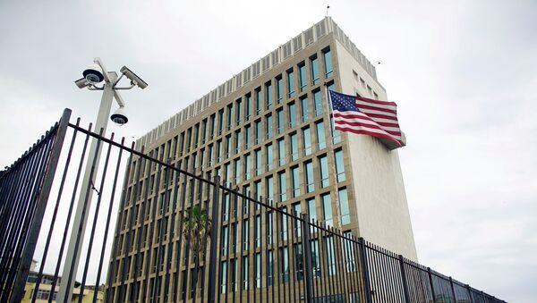 An exterior view of the U.S. Embassy is seen in Havana, Cuba, June 19, 2017. - Sputnik France