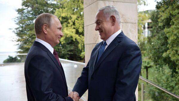 Президент РФ В. Путин встретился с премьер-министром Израиля Б. Нетаньяху - Sputnik France