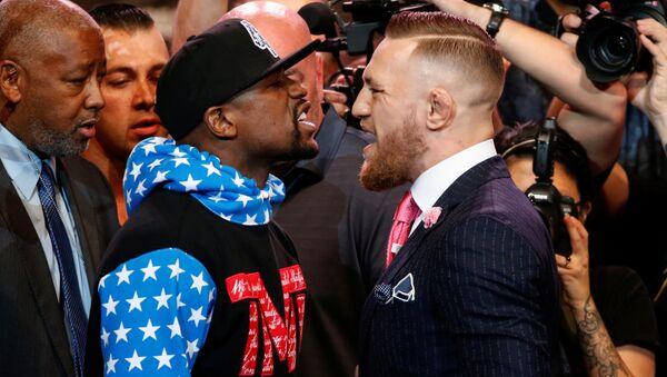 Boxeadores Floyd Mayweather e Conor McGregor - Sputnik France