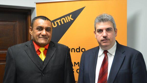 Yul Jabour et William Pérez, députés de l'Assemblée nationale vénézuélienne et représentants du pays au parlement du Mercosur - Sputnik France