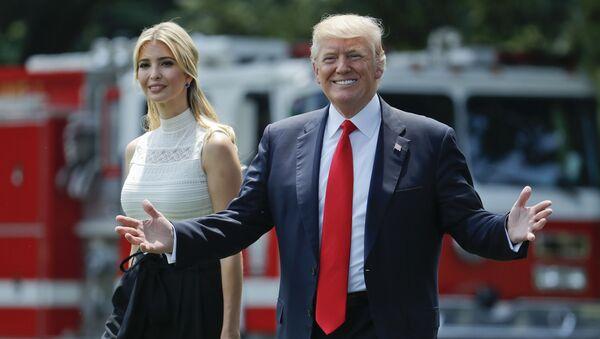 Donald Trump et Ivanka Trump - Sputnik France