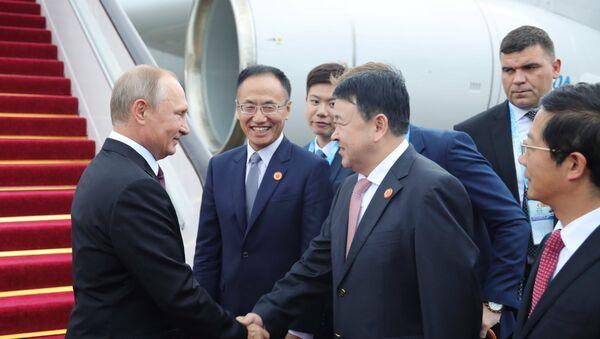 Poutine arrive en Chine pour le sommet des BRICS - Sputnik France