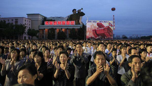 Les habitants de Pyongyang réunis pour les festivités à l'occasion d'un test réussi d'une bombe H - Sputnik France