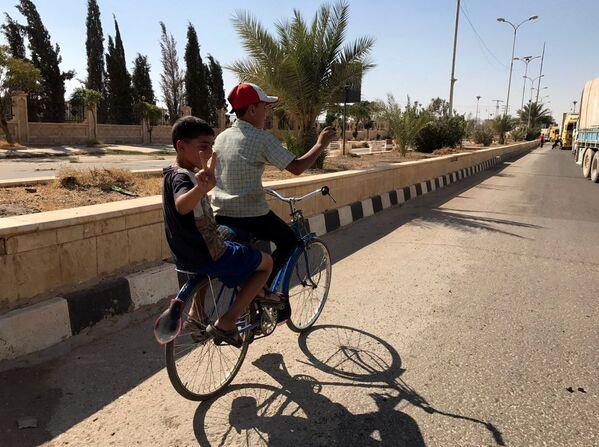 Un convoi chargé de vivres et de médicaments est arrivé à Deir ez-Zor - Sputnik France