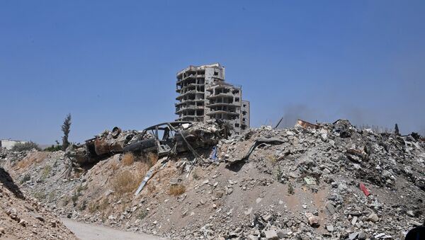 Ситуация в квартале Кабун в пригороде Дамаска - Sputnik France