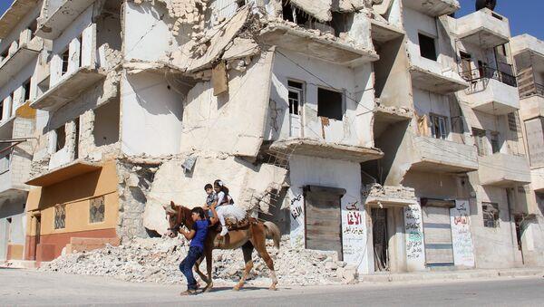 Niños en la ciudad siria de Idlib - Sputnik France