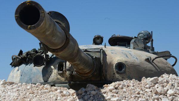 Un T-55 en positon en Syrie - Sputnik France