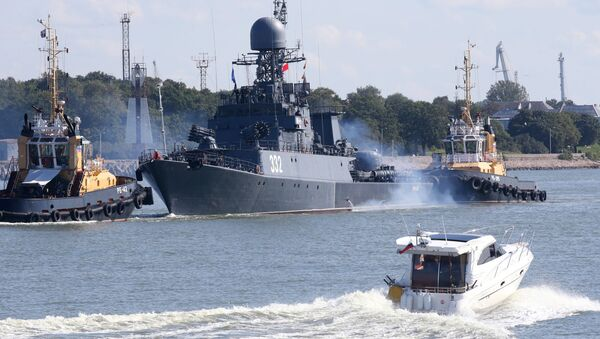 Les navires de la Flotte de la Baltique lors des manœuvres Zapad 2017 - Sputnik France