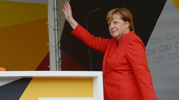 Предвыборное выступление А. Меркель в Мюнстере - Sputnik France