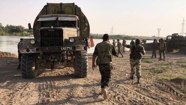 Syrian army forced the Euphrates River near Deir ez-Zor - Sputnik France