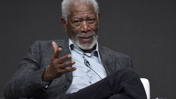 Morgan Freeman participates in The Story of Us With Morgan Freeman panel during the National Geographic Television Critics Association Summer Press Tour at the Beverly Hilton in Beverly Hills, Calif - Sputnik France